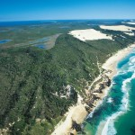 Aerial of Great Sandy National Park